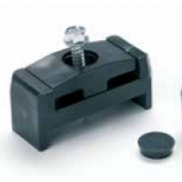 Комплект фиксатор за стълб 60/40 mm + самонарезен болт