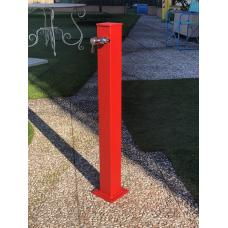 Градинска чешма алуминий, модел VAN GOGH - червен