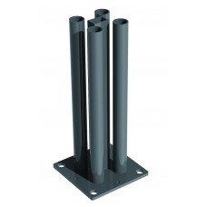Стоманена анкерна планка; Подходяща за стълб с дължина 1.30 m и 1.60 m