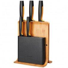 Комплект 5 бр. ножове FunctionalForm с бамбукова поставка