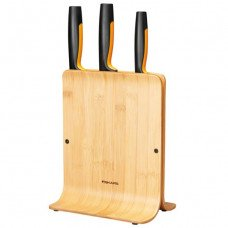 Комплект 3 бр. ножове FunctionalForm с бамбукова поставка