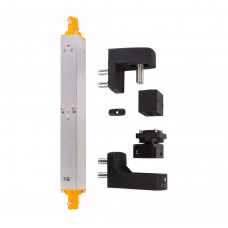 Комплект INTERIO хидравличен автомат за затваряне на врати и панти за вгражданев черен цвят