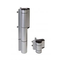 Комплект MAMMOTH-180 автомат за затваряне на врати и панта DINO в сив цвят