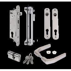 Комплект брава за вграждане Fiftylock с насрещник, аксесоари и дръжка 3006J-H