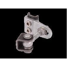 Комплект 2 бр pегулируеми панти GBMU4D M16 за индустриални врати с части за заваряване от черен метал