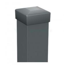 Квадратен ограден стълб (за пано) с капачка 50x50; H=2m Цвят сив (RAL 7024)