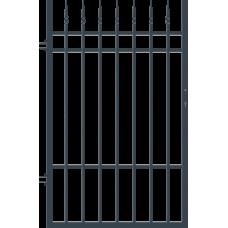 Лява еднокрила оградна врата + панти Portland