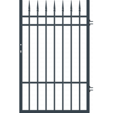 Дясна еднокрила оградна врата + панти Portland