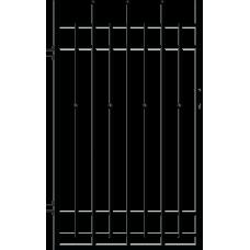 Лява еднокрила оградна врата + панти Brema