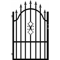 Лява еднокрила оградна врата + панти Venus