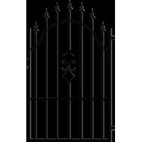 Дясна еднокрила оградна врата + панти Venus