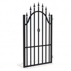 Лява еднокрила оградна врата + панти Polis