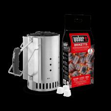 Комплект за бързо и лесно разпалване на въглища WEBER® (уред+брикети+кубчета)